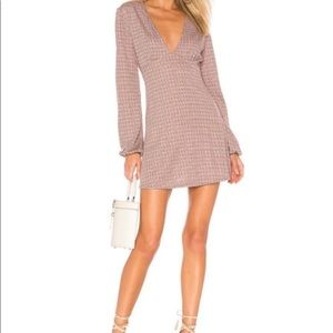 NWT Free People Selin Mini Dress houndstooth print